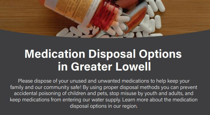 lowell medication disposal