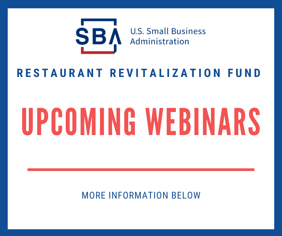 RRF Upcoming Webinars
