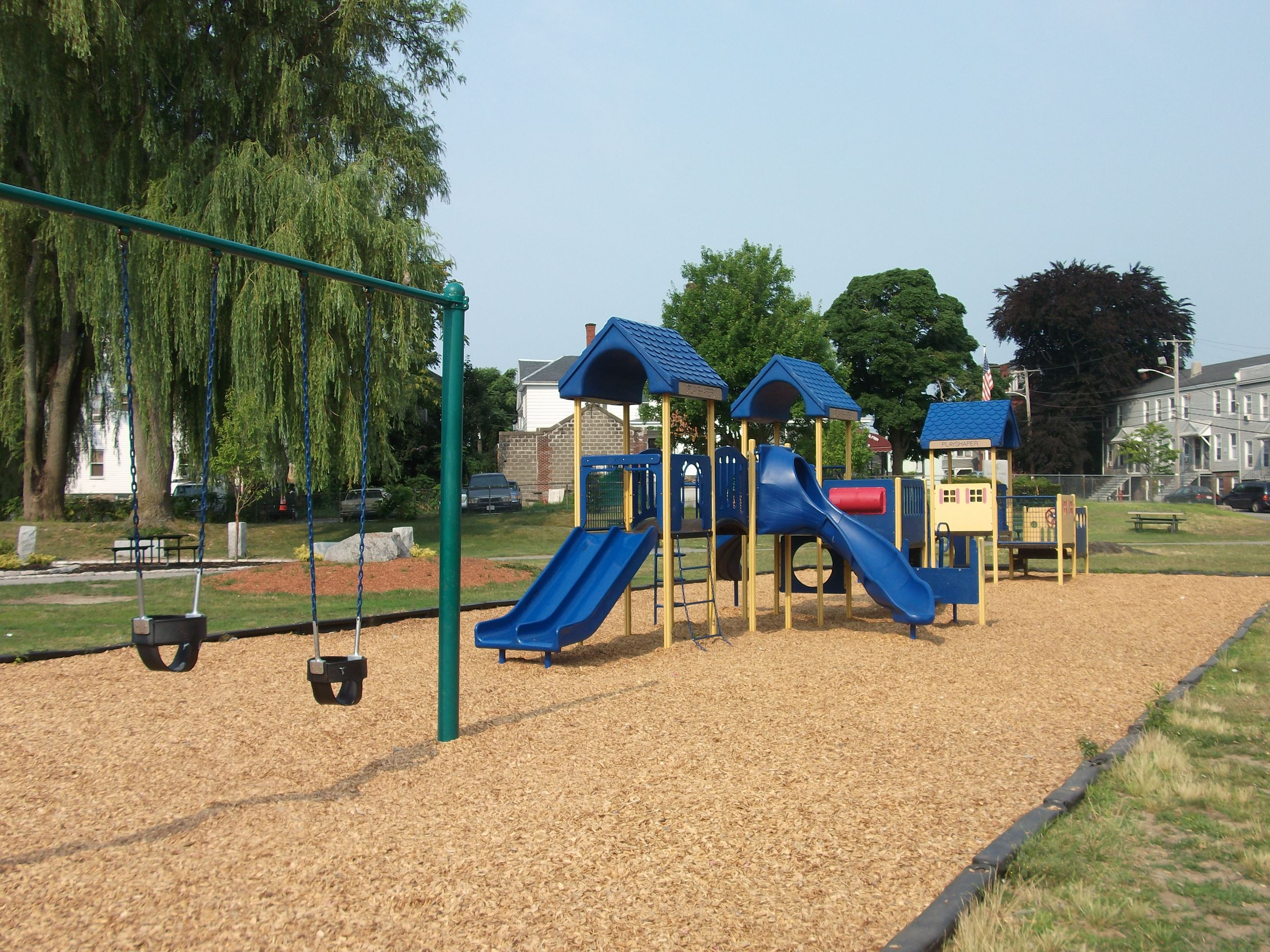 Armory Park playground with swings and slides