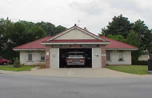 The front of Pine Street (Stevens Street) Fire Station