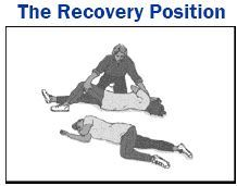 An illustration of the recovery position
