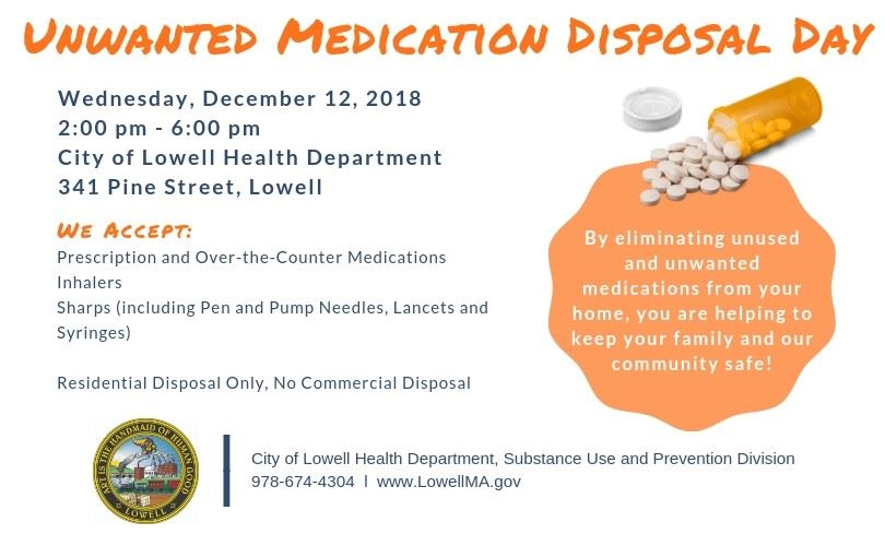 Dec 12 Unwanted Med Disposal Flyer Half Size