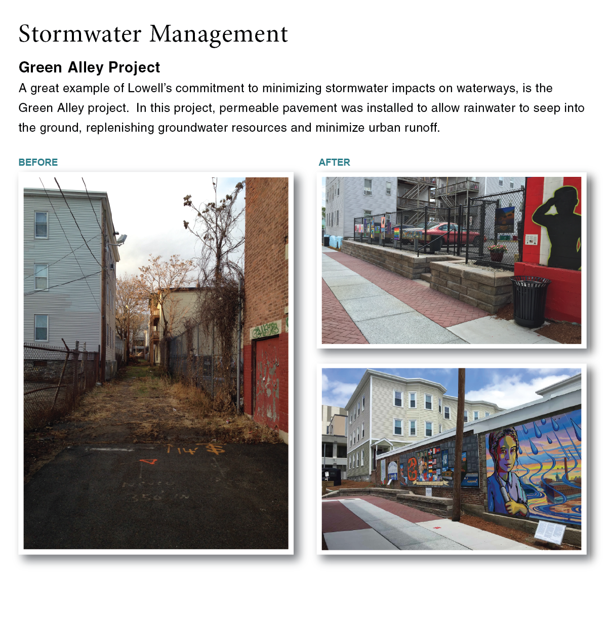 stormwater management-green alley