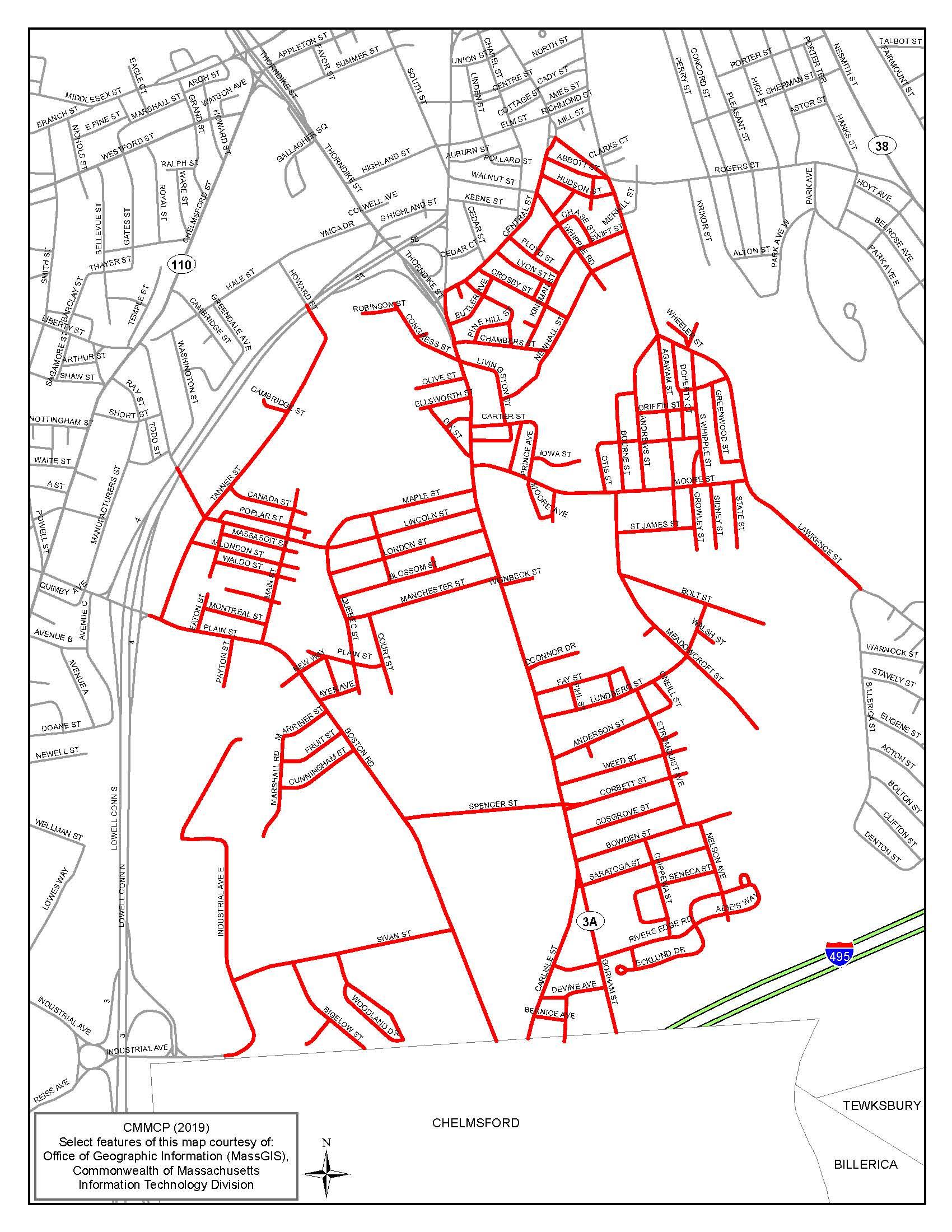 Lowell, MA on city street map manhattan ny, city street map jackson tn, city street map lincoln ne, city street map londonderry nh, city street map frankfort ky,