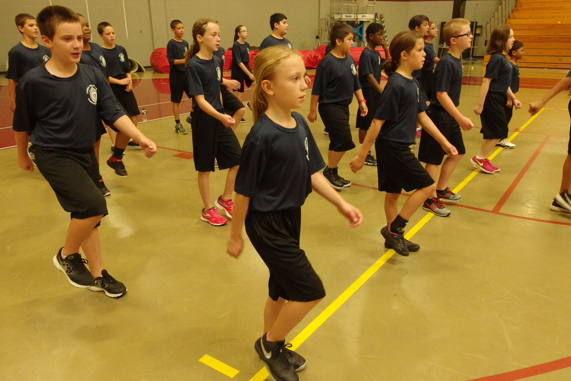 Student Police Academy Exercise