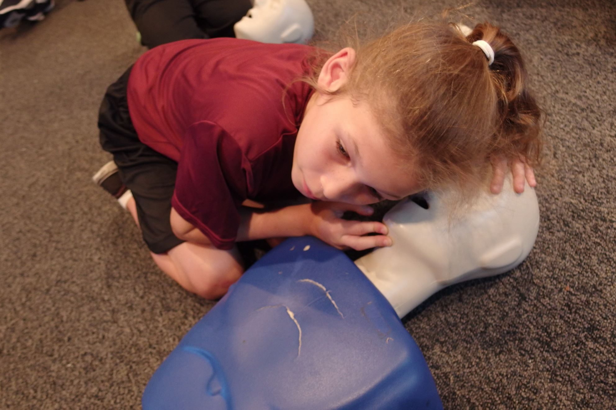 Using a Dummy to Practice CPR